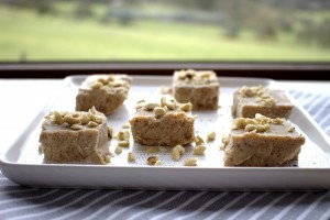 Almond Butter Vanilla Fudge