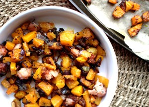 Roasted Butternut Squash with Bacon and Thyme