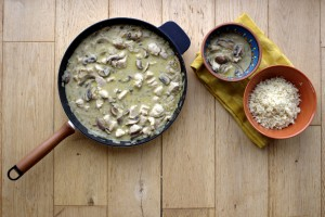 One Pan Chicken with Mushrooms
