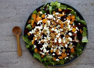 Butternut Squash, Beetroot & Walnut Salad