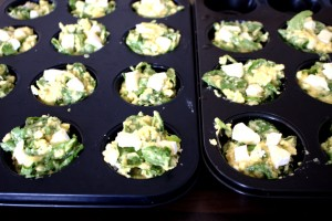 Spinach, Brie and Olive Muffins